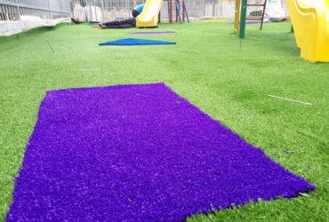התקנת דשא סינטטי בגני ילדים